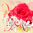 Stock Photo: Abstract rose background