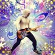 Funky guitarist — Stock Photo