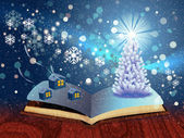 Magic winter book — Stock Photo