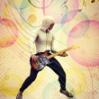 Funky guitarist — Stock Photo