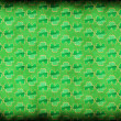 Green shamrock background — Stock Photo