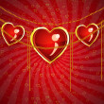 Valentine jewelry hearts — Stock Photo