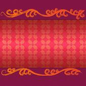 Cartão vintage floral — Foto Stock