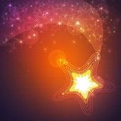 Shining star background — Stock Photo