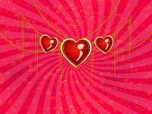 валентина ювелирные изделия сердца — Стоковое фото
