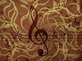 Music floral background — Stock Photo
