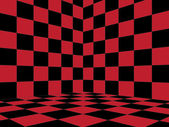 Red Checkered Room — Foto Stock