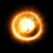 Orange burning sun — Stock Photo