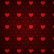 Grunge red pattern with hearts — Stock Photo #18171489