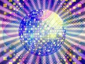 Funky music pozadí s míčem dico — Stock fotografie