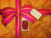 Greeting card with the bow — Stock Photo