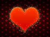 Red pattern with big heart — Foto de Stock