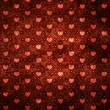 Grunge red pattern with hearts — Stock Photo #18244333