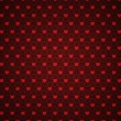 Grunge red pattern with hearts — Stock Photo