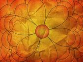 Tekstury papieru z kwiatu pomarańczy — Zdjęcie stockowe