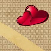 Srdce na papír — Stock fotografie