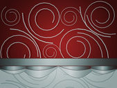Pearls on red background — Stok fotoğraf