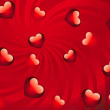 Glossy red hearts background — Stock Photo #18582527