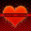 Red pattern with big heart — Stock Photo