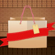 Shopping bag on vintage background — Stock Photo #18697691