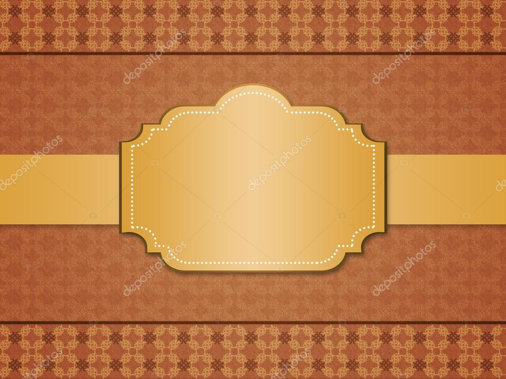 Vintage styled pattern paper background with framed label. — Stock Photo #18697725