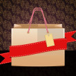 Shopping bag on vintage background — Stock Photo #18825779