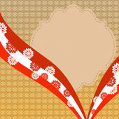 Vintage background with red lace — Stock Photo