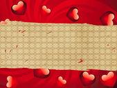 Serca na papierze — Zdjęcie stockowe