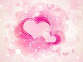 Tło valentine serca — Zdjęcie stockowe