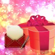 Love letter and gift box — Foto Stock