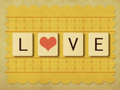 Azulejos de amor de san valentín — Foto de Stock