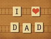 Fathers day tiles — Stock Photo