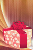 Holiday background with gift box — Stock Photo