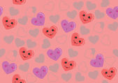 Cute hearts pink pattern — Stock Vector