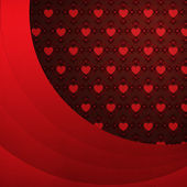 Heart pattern background with red ribbon — Stock Photo