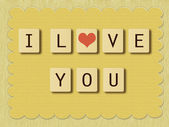 Valentine love tiles — Stock Photo