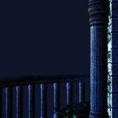 Night balcony — Stock Photo