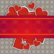 Stock Photo: Hearts on vintage background