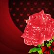 Valentines background with roses — Stockfoto