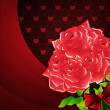 Valentines background with roses — Stock Photo