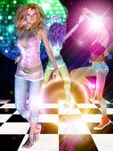 Docela tančící dívka — Stock fotografie