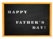 Happy Father's day on blackboard — Stock Photo