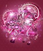 ピンクのバレンタインの音楽の背景 — ストック写真