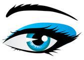 Shining woman eye — Stock Vector