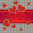 Hearts on vintage background — Stock Photo #19728023