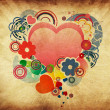 Stock Photo: Valentine vintage background