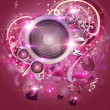 Royalty-Free Stock Photo: Pink valentine music background