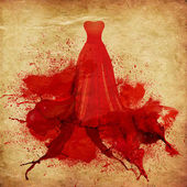 Painted red dress — Stock Photo