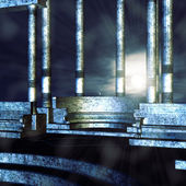 śródziemnomorskiej balkon — Zdjęcie stockowe