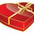 Red heart shaped gift box — Stock Vector #20024949